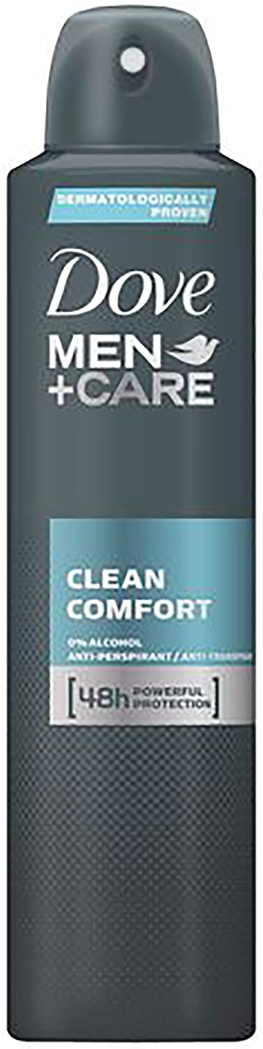 dove spray men's 250ml clean comfort