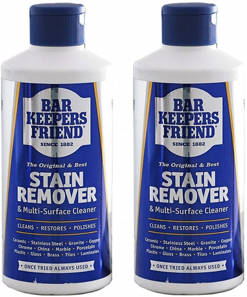 Bar Keepers Friend Universal Multi Surface Cleaner Stain Remover Powder (Pack of 2, 250g) - iShom