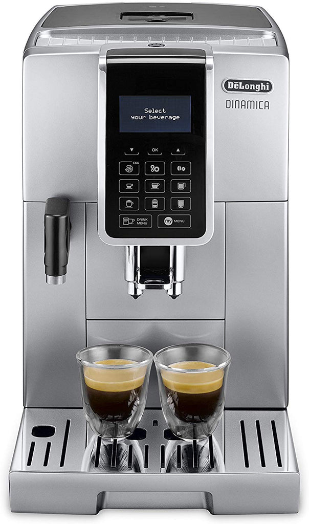 De'Longhi DINAMICA ECAM 350.75.S Automatic Espresso Machine and Grinder - Silver/Black