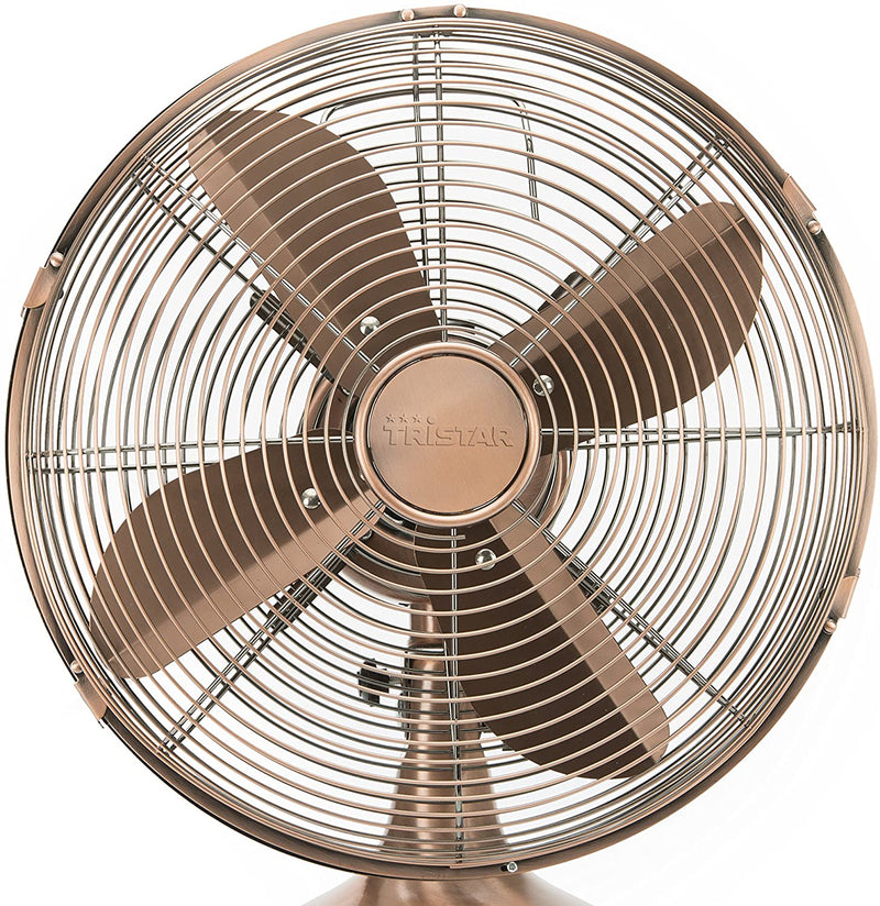 Tristar VE-5970 Table-Top Fan, Gold, VE-5970 35 wattsW, 240 voltsV