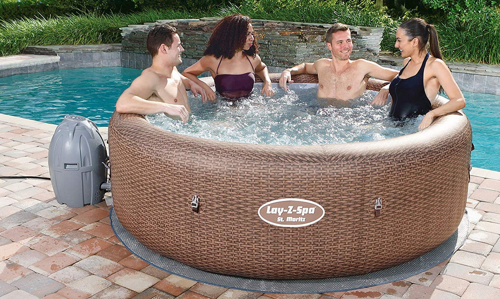 "Lay-Z-Spa St Moritz Hot Tub, Airjet Inflatable Spa, 5-7 Person  216cm x 71cm (85"" x 28"")"