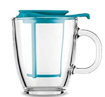 Bodum YO-YO Mug and tea strainer, 0.35 l, 12 oz Petrol | ISHOM