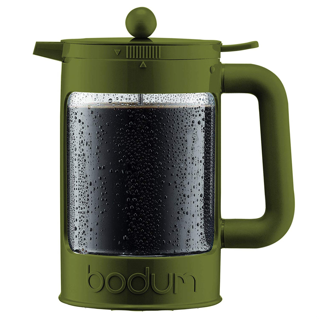 Bodum Bean Cold Brew French Press in olive for iced coffee 1.5L | ISHOM