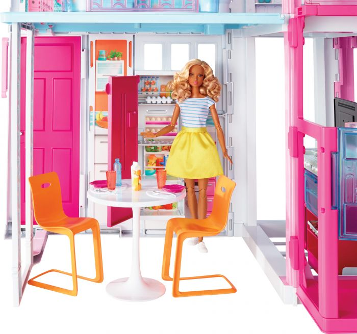 Barbie ESTATE Three-Story Town House Colourful and Bright Doll House - iShom