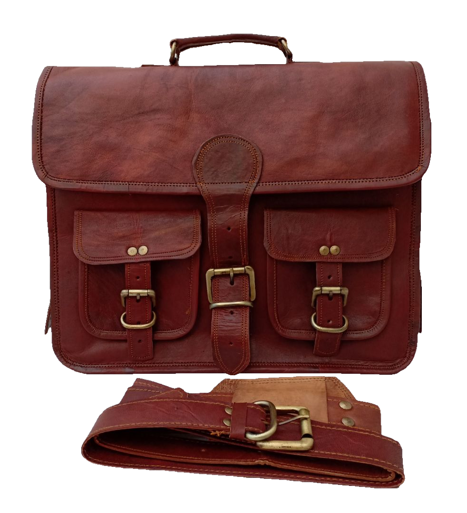 Genuine Leather Laptop Briefcase, bag 15-inch - iShom