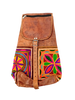 Ethnic Genuine Leather Embroidered Backpack / Rucksack - iShom