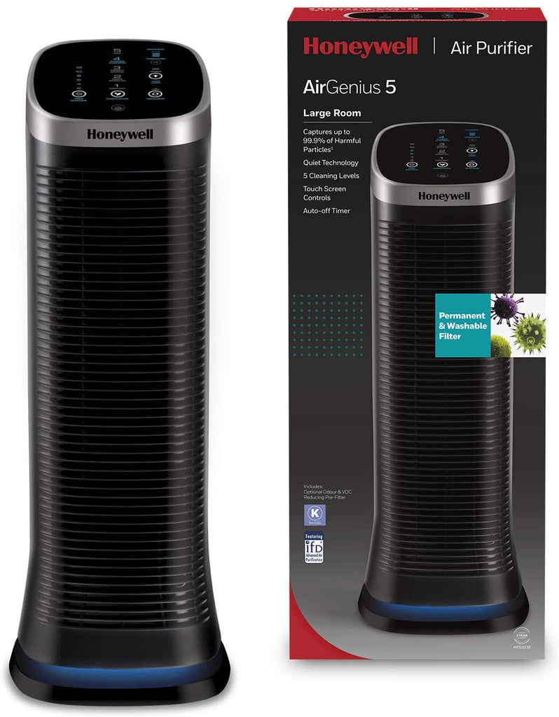 Honeywell HFD323E2 Air Genius 5 ifd Technology Air Purifier with Washable Filter
