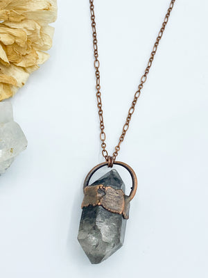 Double Terminated Tibetan Quartz Pendant
