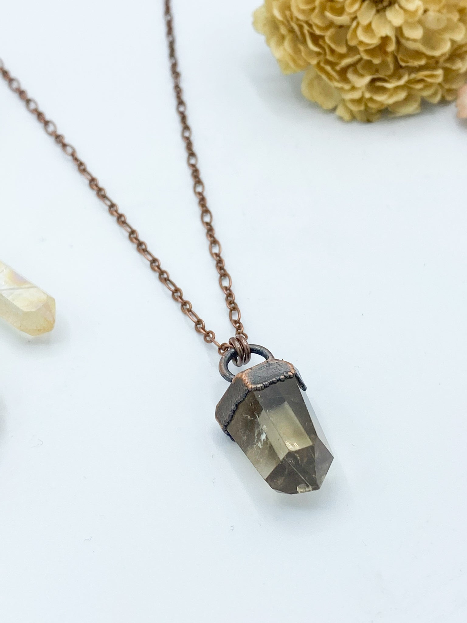 Petite Citrine Point Pendant