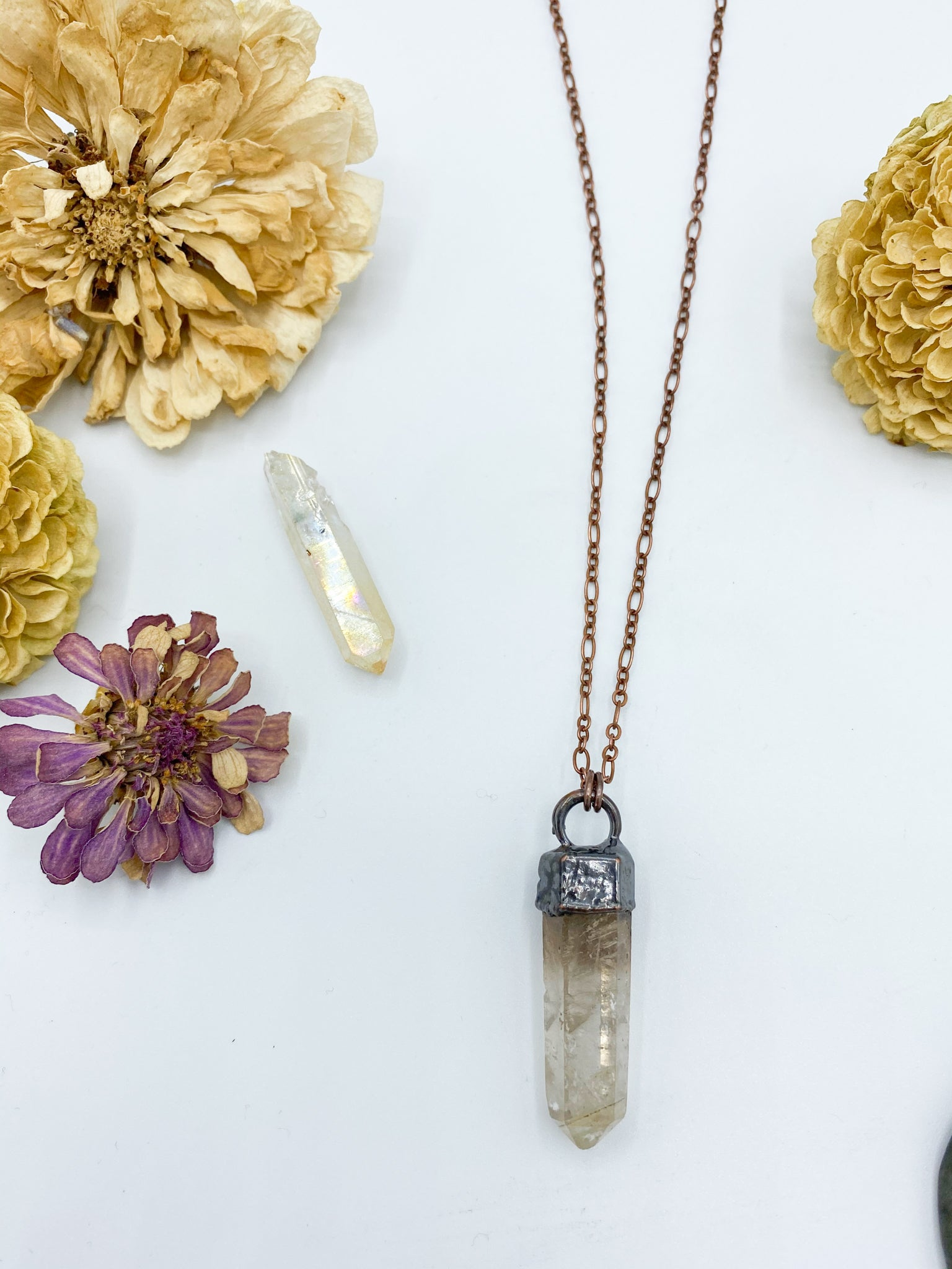 Rutilated Quartz Point Pendant