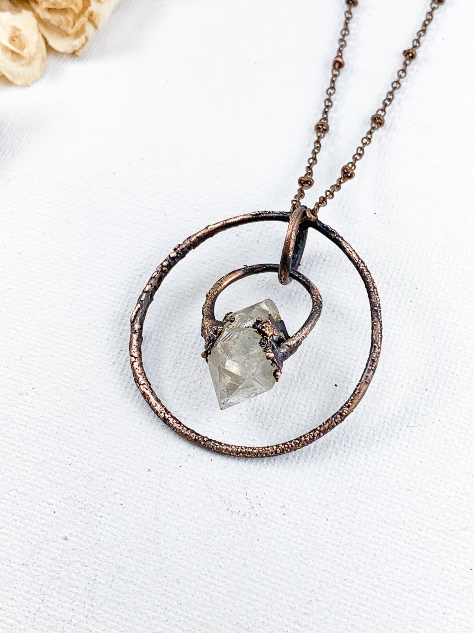 Herkimer Diamond Pendant - Allie & Tess