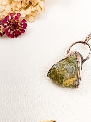 Rainforest Jasper Pendant - Allie & Tess