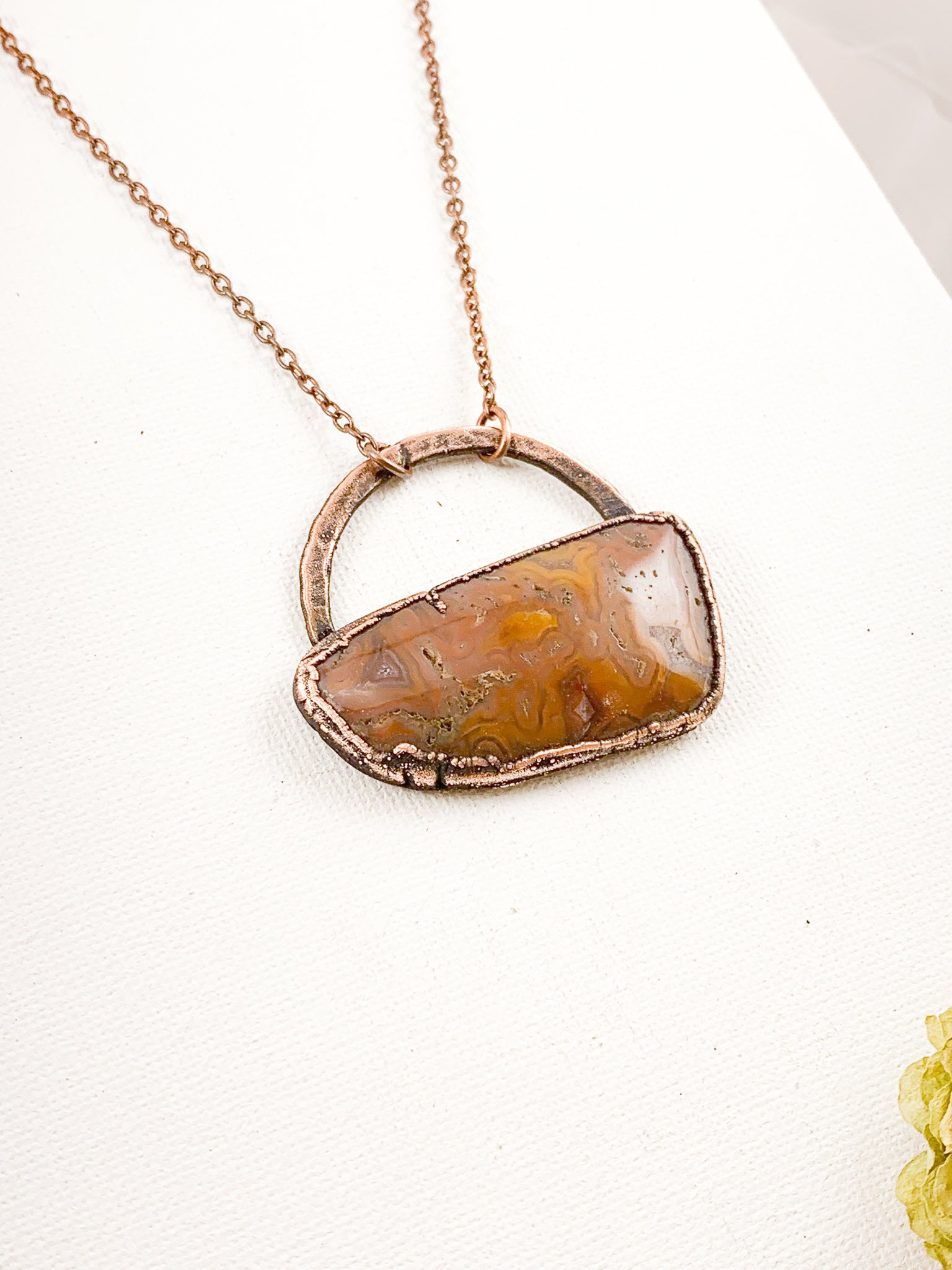 Crazy Lace Agate Pendant - Allie & Tess