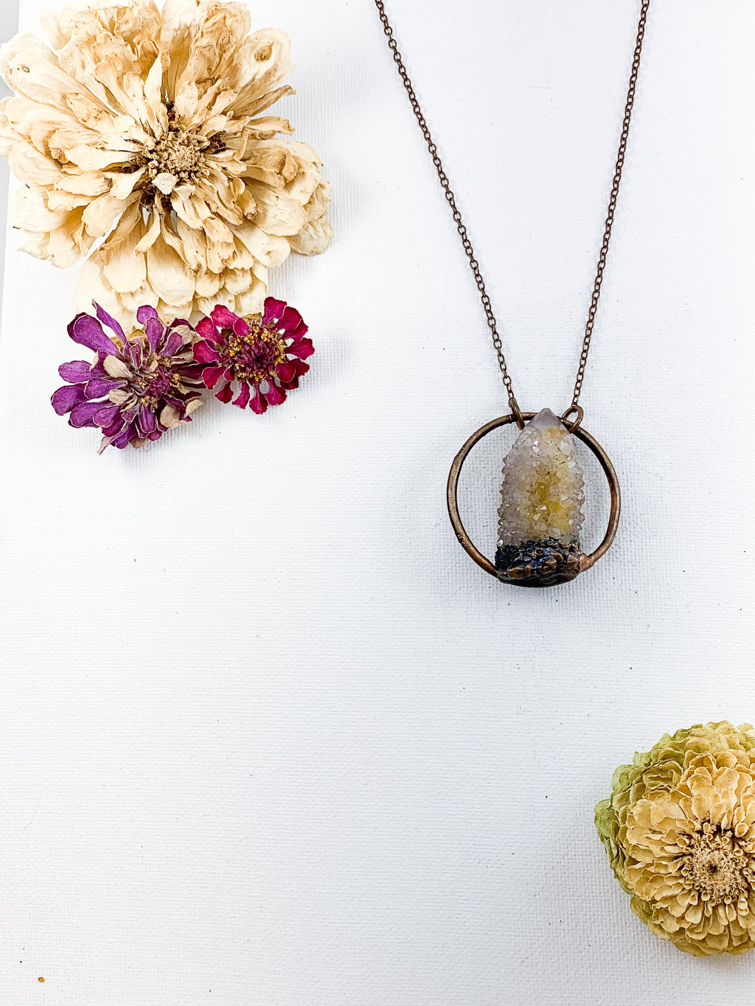 Spirit Quartz Pendant - Allie & Tess