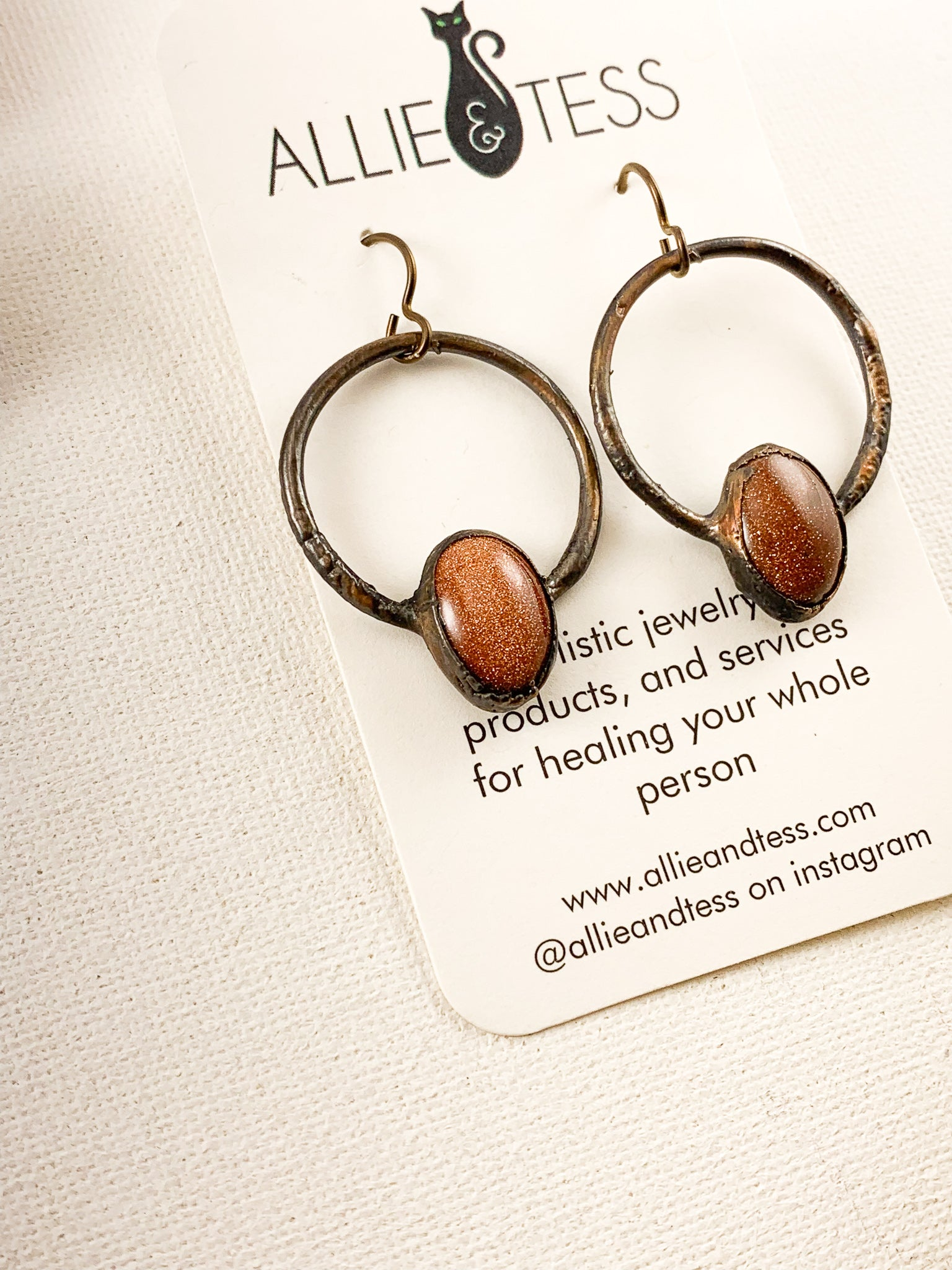 Goldstone Hoops - Allie & Tess