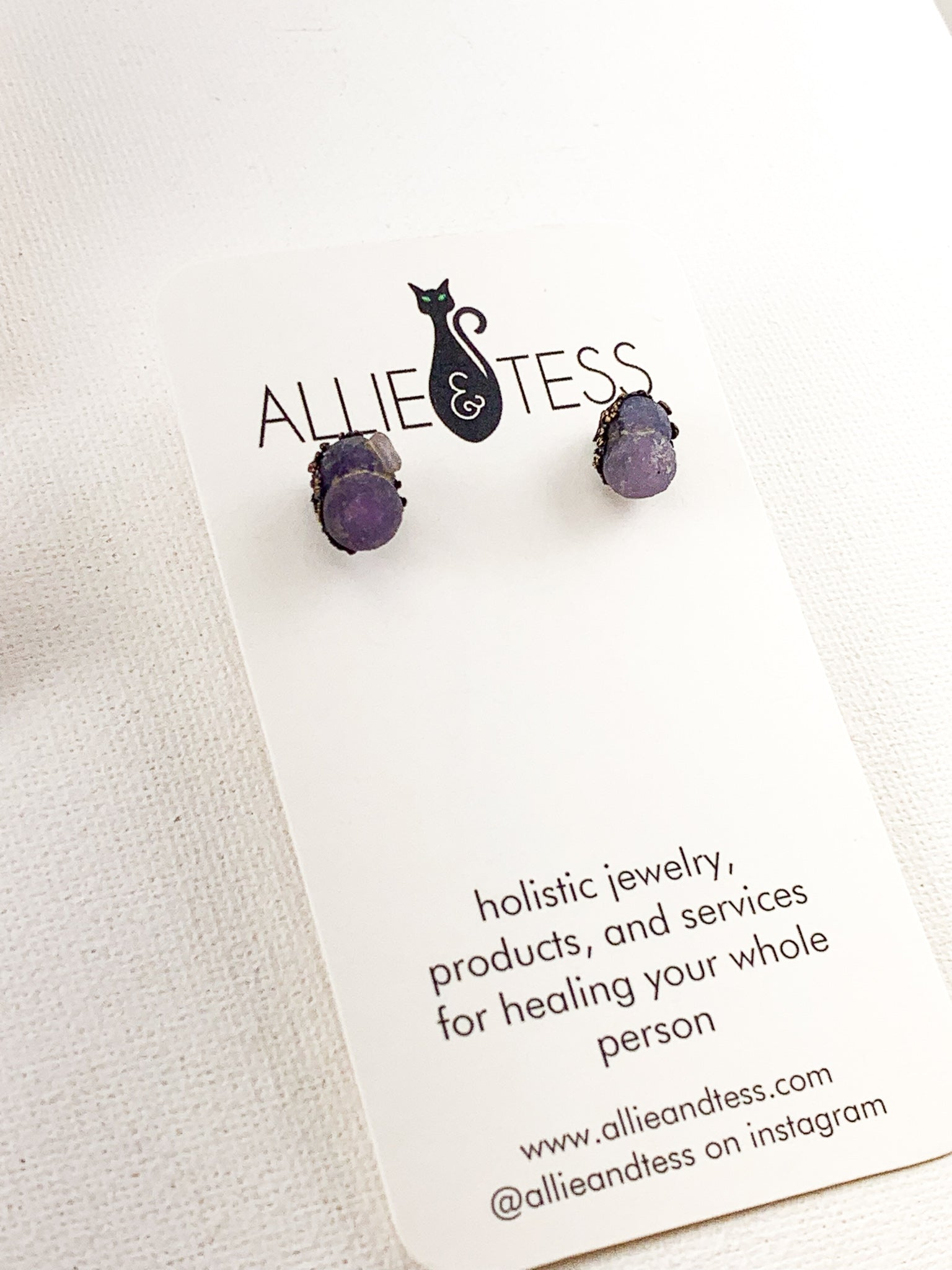 Grape Agate Studs - Allie & Tess