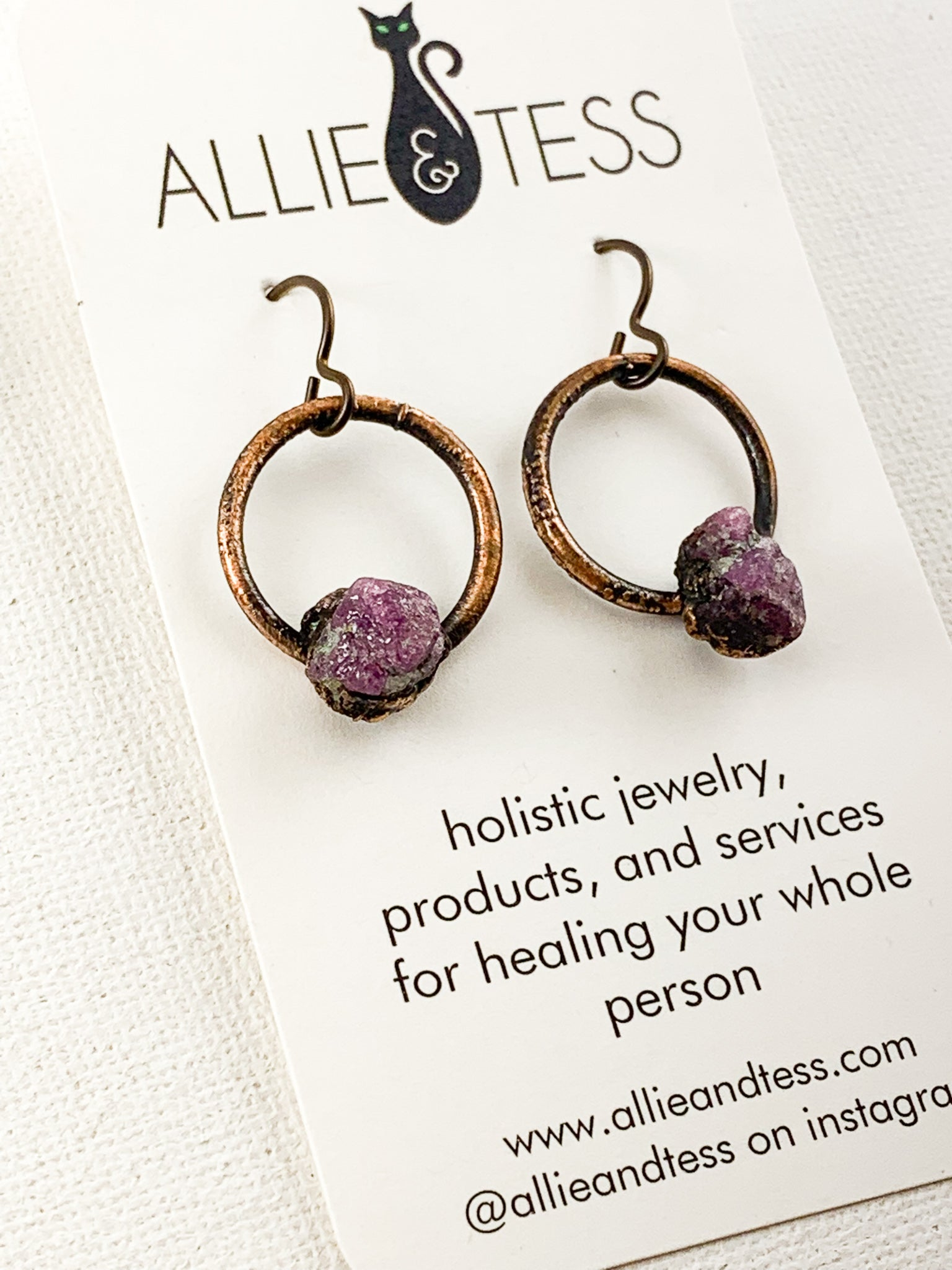 Ruby Hoops - Allie & Tess