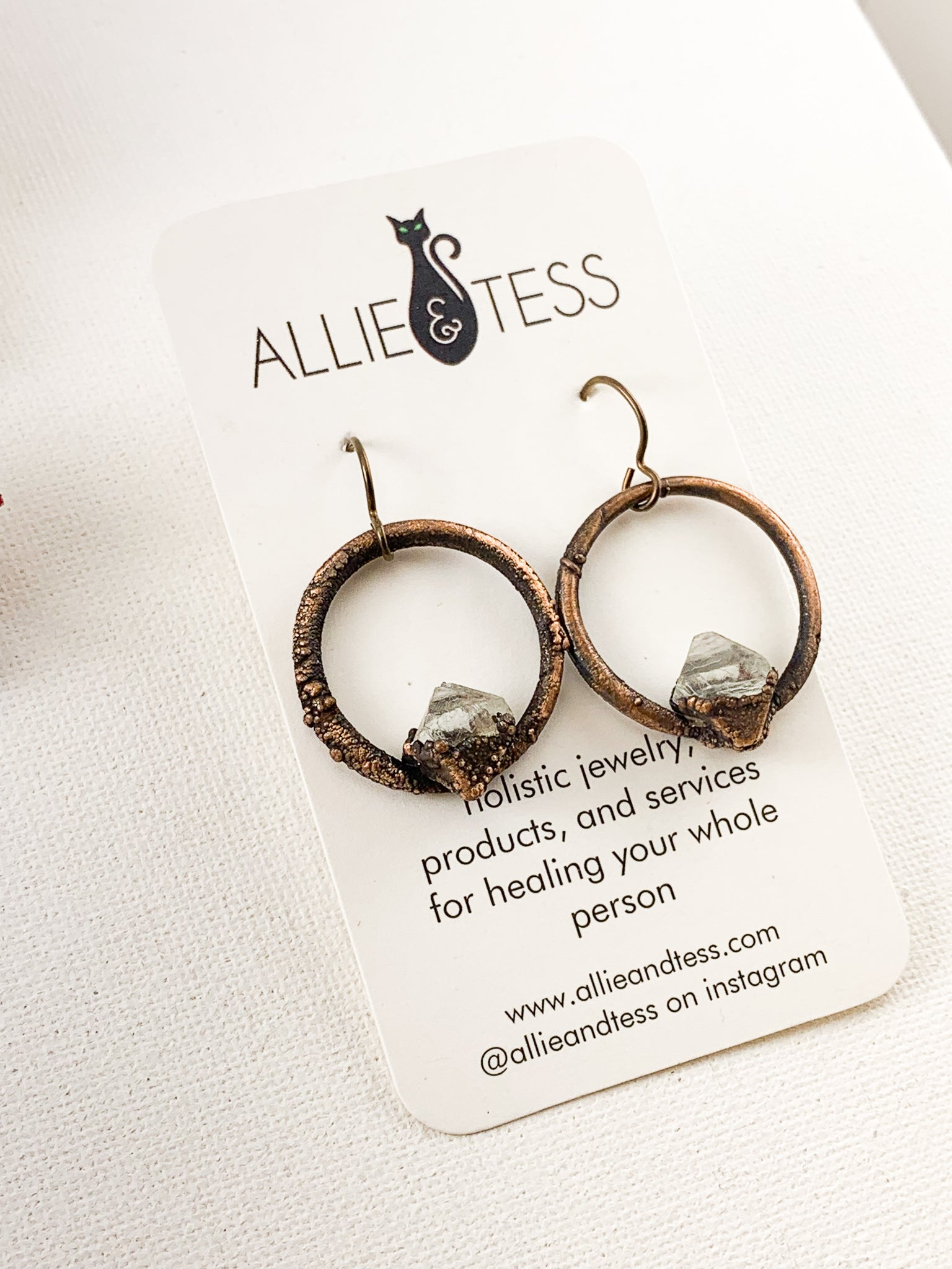 Fluorite Hoops - Allie & Tess