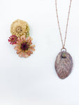 Sage Leaf Pendant with Unakite - Allie & Tess