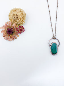 Malachite Orbit Pendant - Allie & Tess