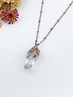 Clear Quartz Cluster Pendant - Allie & Tess