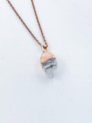 Bright Clear Quartz Point Pendant - Allie & Tess