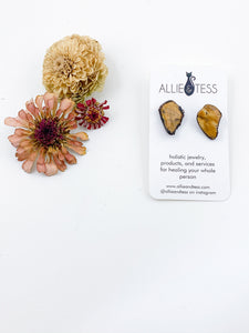 Yellow Jasper Studs - Allie & Tess