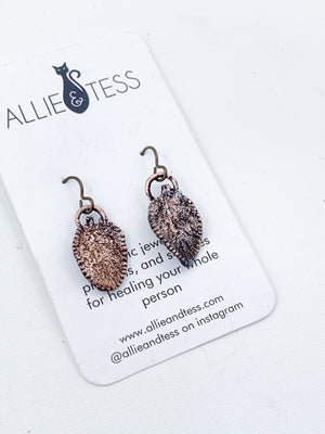 Sage Leaf Earrings - Allie & Tess