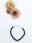 Blue Goldstone and Clear Quartz Beaded Bracelet - Allie & Tess