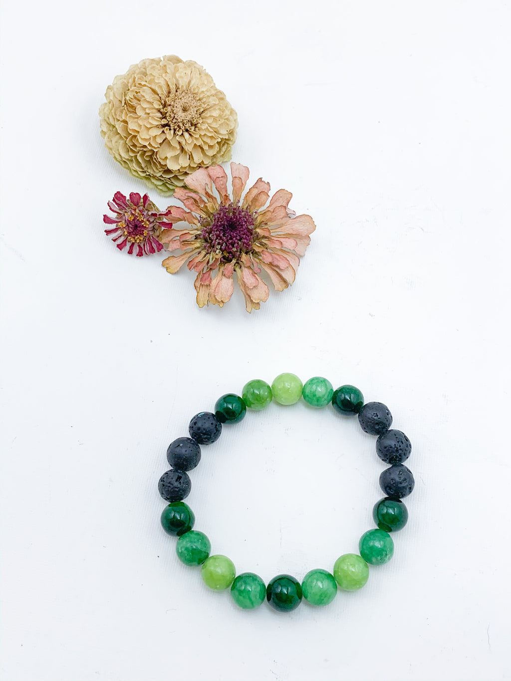 Green Jasper and Lava Bead Diffuser Bracelet - Allie & Tess