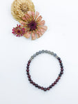 Garnet and Labradorite Beaded Bracelet - Allie & Tess