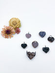Druzy Amethyst Heart Pendants - Allie & Tess