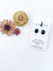 Rose Cut Black Onyx Studs - Allie & Tess