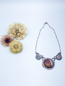 Desert Jasper Circles Necklace - Allie & Tess