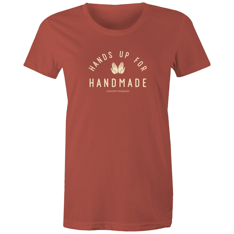 'Hands Up For Handmade' Women's Crew Tee