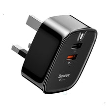 Load image into Gallery viewer, USB 3.0 UK Wall Charger Plug
