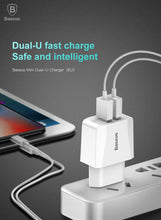 Load image into Gallery viewer, Dual USB Charger EU Plug