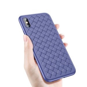 Luxury Grid Pattern Case For iPhone X