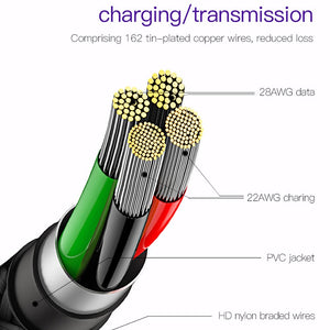 LED Light USB Type C 90 Degree Cable