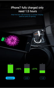 Dual USB Car Charger Quick Charge 3.0