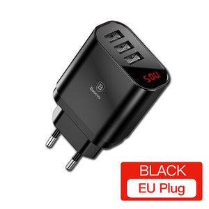 Triple USB Charger Plug US/EU
