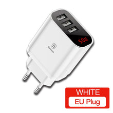Load image into Gallery viewer, Triple USB Charger Plug US/EU