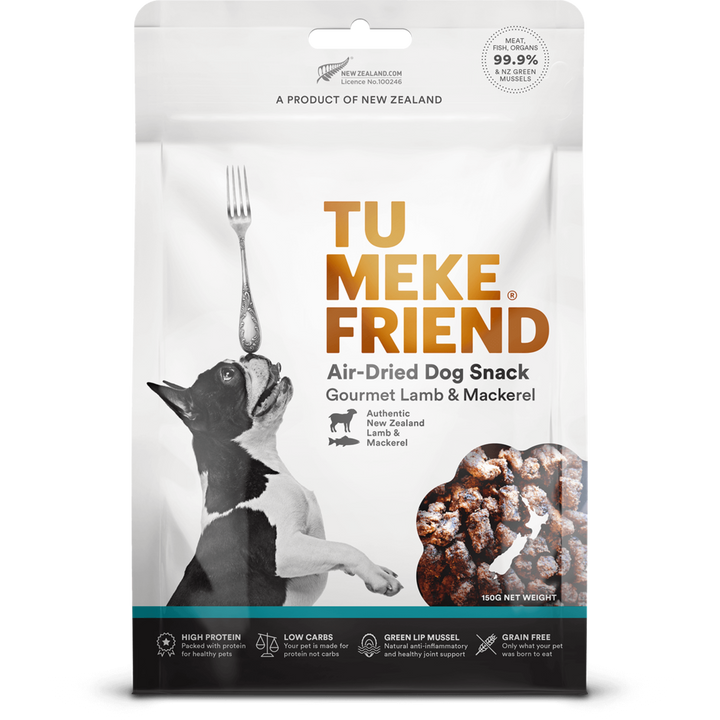 Tu Meke Friend - Air Dried Dog Snacks - Gourmet Lamb & Mackerel