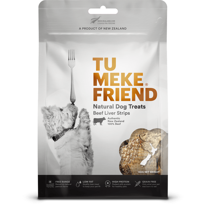 Tu Meke Friend - Air Dried Dog Treats - Beef Liver Strips Bag