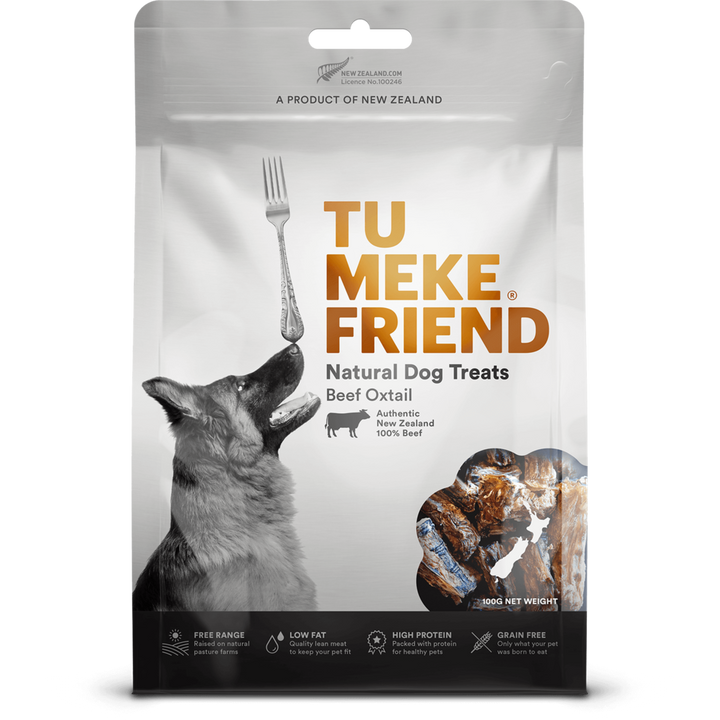 Tu Meke Friend - Air Dried Dog Treats - Beef Oxtail Bag