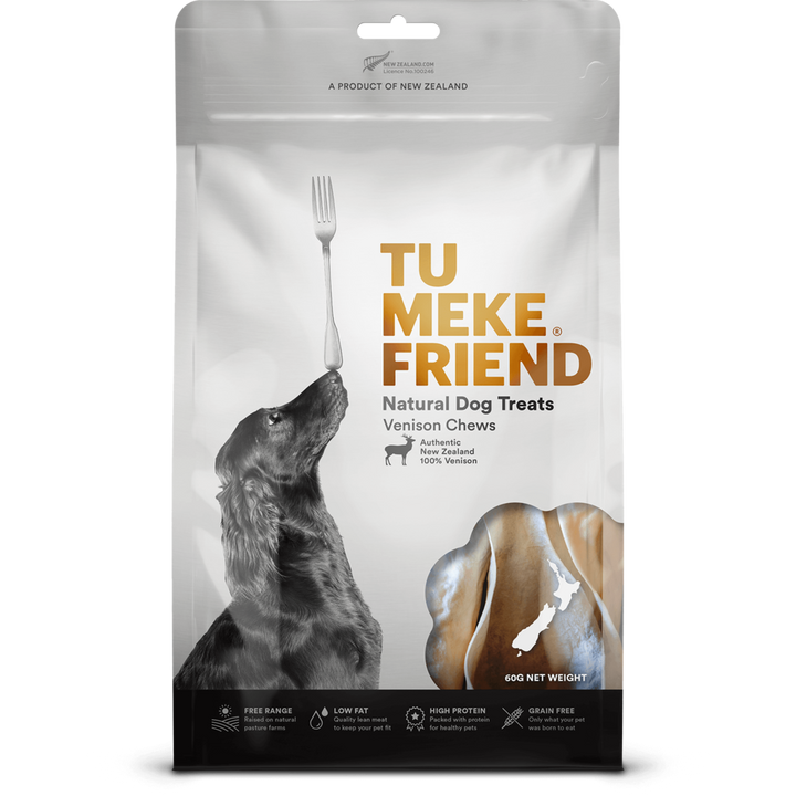 Tu Meke Friend - Air Dried Dog Treats -Venison Chews