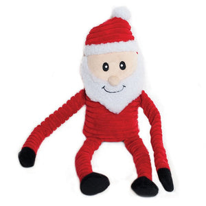 Holiday Crinkle Santa - LARGE - Dog Toy