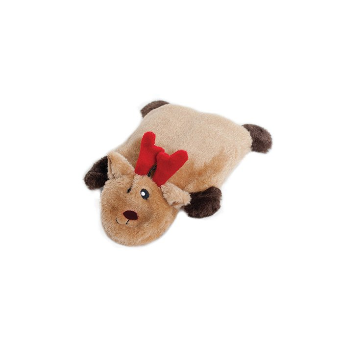 HOLIDAY SQUEAKIE PADS REINDEER - Dog Toy