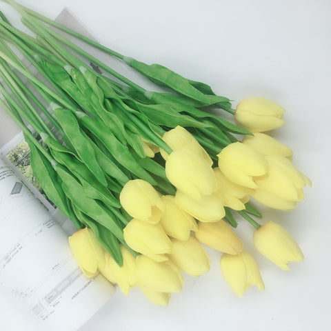 20 Pcs/lot Tulip Real Touch Artificial Flowers Wedding