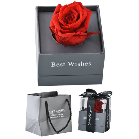 Artificial Flowers Decoration Red Rose with Gift Box